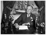 President Roosevelt Delivering Radio Address